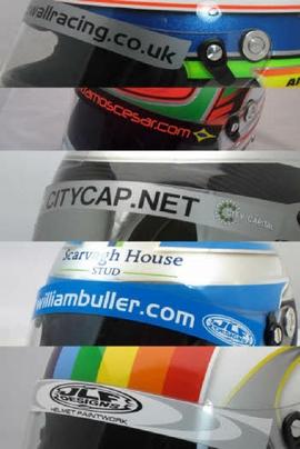 Helmet Visor Stickers